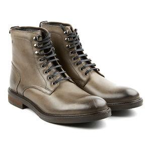 NWT Base London Track Lace-Up Boots Burnished Grey